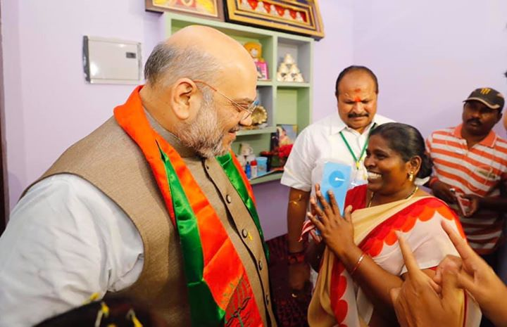 Having a home of your own is one of the most beautiful feeling in life.  I congratulate P Jyoti ji for her new home under the Pradhan Mantri Awas Yojana. Visited her home in Rajahmundry as part of #LabharthiSamaparkAbhiyan.  I thank PM Modi for fulfilling dreams of million of Indians like her.