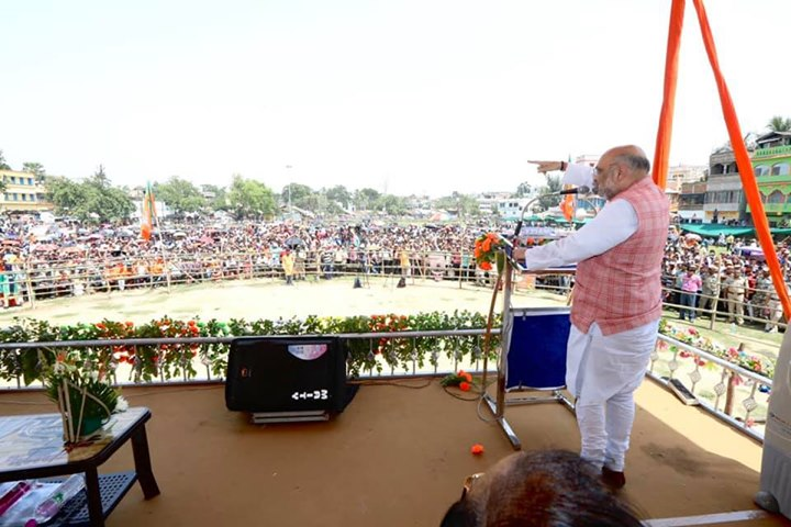 ‪Addressed a public meeting in Ghatal, Paschim Medinipur, West Bengal. #HarDilMeiModi ‬