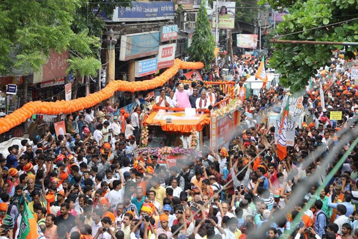 I am sure this massive support for the BJP among people of Bengal must have shaken the anarchist Mamata government.  Time to pack up, Mamata Didi.  #BengalWithBJP
