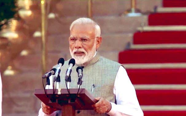 ‪Historic moment for entire India.‬  ‪Congratulations to Shri Narendra Modi ji on being sworn in as the Prime Minister of India for a second consecutive term.‬ ‪I am sure India will continue to scale new heights under your able leadership.‬  In the last 5 years, India has witnessed an era of unprecedented growth in every field. PM Modi govt has laid the foundation of a New India, which is not only asserting itself in the world order but also working tirelessly to lift living standards of its citizens.