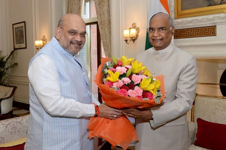 ‪Called on Rashtrapati Shri Ram Nath Kovind ji this morning.‬  ‪It is always a pleasure to meet him. ‬