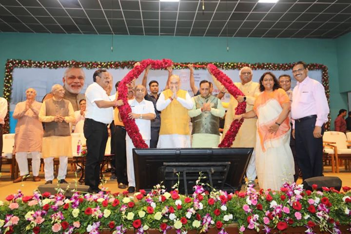 Inaugrated the newly renovated D K Patel community hall in Ahmedabad.