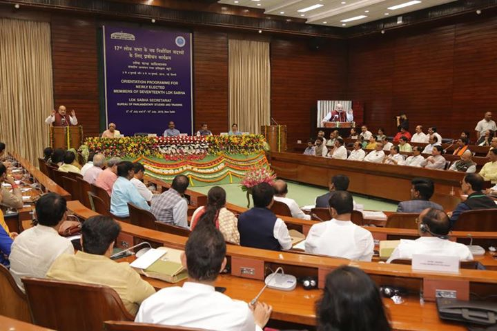 Addressed the Orientation Programme for newly-elected members of the 17th Lok Sabha. 