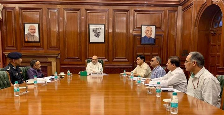 Had a meeting with MoS Shri Nityanand Rai, senior MHA officials and concerned departments on the issue of developing flood situation in various parts of the country.  Directed all related officials to ensure proper relief, rescue and rehabilitation measures.