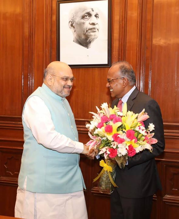 Had a very fruitful meeting with Mr K Shanmugam, Home Minister of Singapore and discussed several issues of mutual interest.  India under the leadership of Prime Minister Shri Narendra Modi always looks forward to further strengthening India-Singapore friendship.