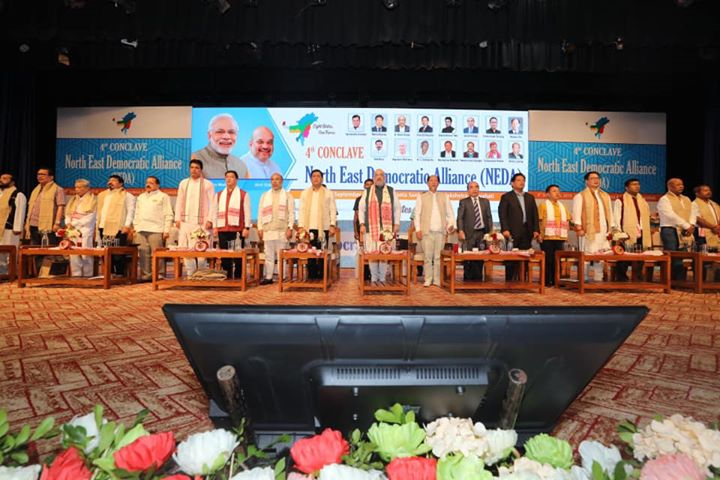 ‪Addressed the 4th Conclave of NEDA (North East Democratic Alliance) in Guwahati, Assam.‬