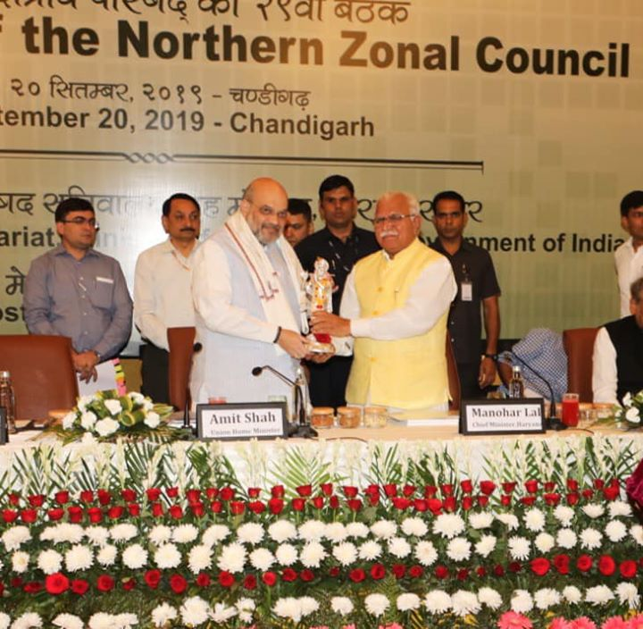 Chaired the 29th Northern Zonal Council Meeting at Chandigarh.  Had extensive discussions and many inter-state issues were amicably resolved.
