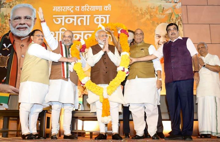 Sharing some glimpses from the victory celebrations at BJP HQ, New Delhi.