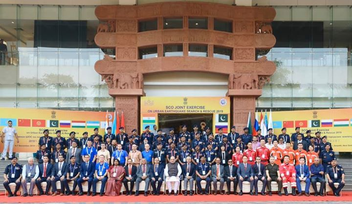 ‪Inaugurated the Shanghai Cooperation Organisation (SCO) Joint Exercise on Urban Earthquake Search & Rescue (SCOJtEx)-2019 in New Delhi‬.