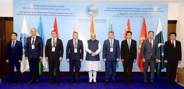 Addressed the 10th Meeting of the Heads of Departments of Shanghai Cooperation Organization (SCO) member countries, dealing with the prevention and elimination to emergency situations today in New Delhi.