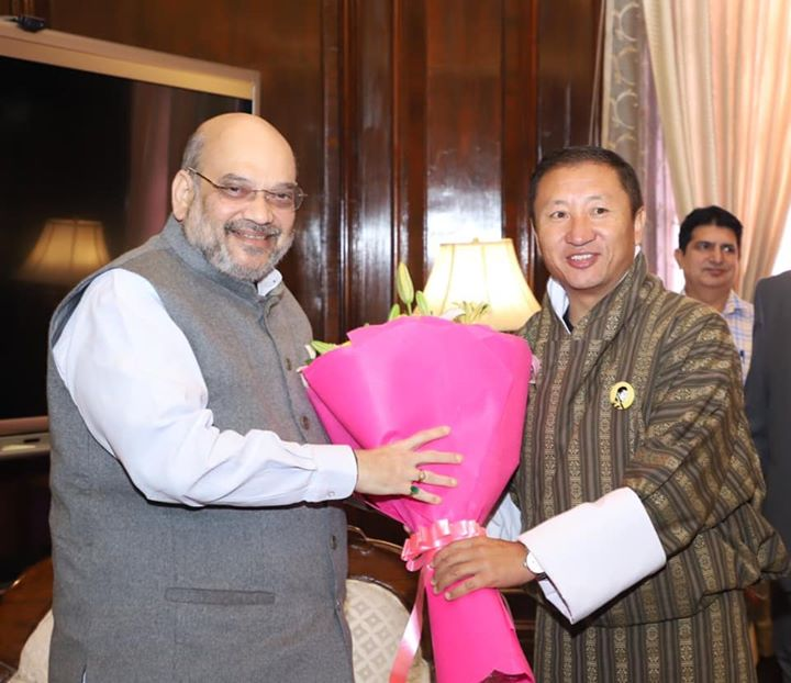 Met Dr Tandi Dorji, Foreign Minister of Bhutan.  Bhutan has always been India's trusted friend. Modi government is committed to further strengthen the special bond between the two nations.