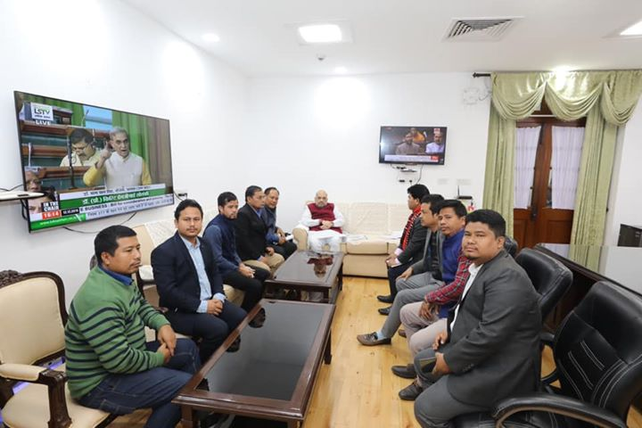 ‪Met with delegations of IPFT and Joint Movement Against CAB from Tripura and discussed their concerns over CAB. Modi government will try to solve their issues in a positive way.‬  ‪I thank them for their appeal to maintain peace and call off the strike.‬