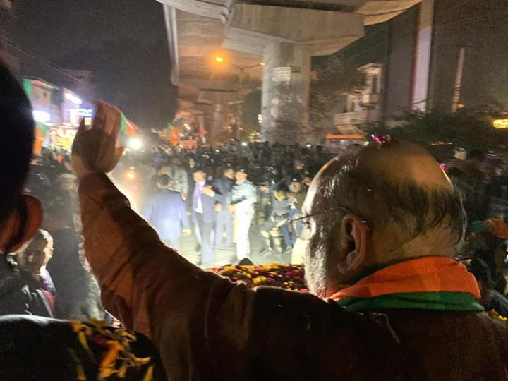 From the ongoing roadshow in Uttam Nagar, New Delhi. #DelhiWithBJP