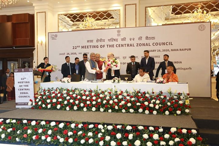 Chaired the 22nd Central Zonal Council in Raipur, Chhattisgarh.‬  ‪Held an extensive discussion on important issues of common interest.‬  ‪Zonal councils provide an important platform to build consensus to resolve all issues having Centre-State and Inter-State ramifications.