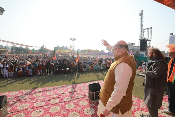 Glimpses from a public meeting in Karala, Delhi. #DelhiWithModi