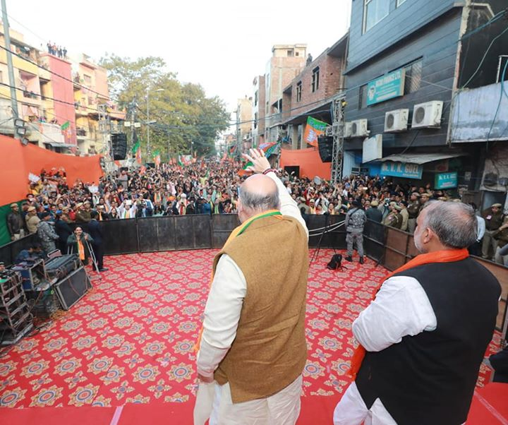 Amazing enthusiasm for BJP among the people of Delhi.  Sharing some pictures from the public meeting in Kishan Ganj. #DelhiWithModi