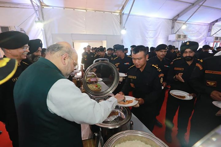 Today at NSG campus in Rajarhat, West Bengal, had an opportunity to serve lunch and interact with our brave NSG commandos. Their devotion and commitment towards India's peace and security is an inspiration to all countrymen.  Sharing some pictures.