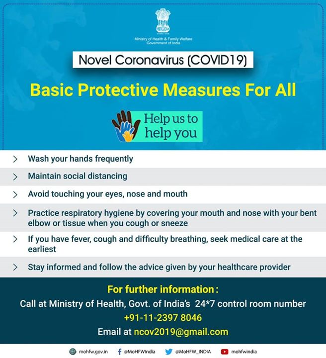India is well prepared and has taken all precautionary steps to contain the spread of COVID-19 Novel Coronavirus. I request everyone to take all important measures to prevent this. Some basic self-preventive measures are as simple as, washing your hands & practising good hygiene.  Holi is a very important festival for we Indians but in the wake of Coronavirus, i have decided not to participate in any Holi Milan celebration this year. I appeal everyone to take good care of yourself & your family.