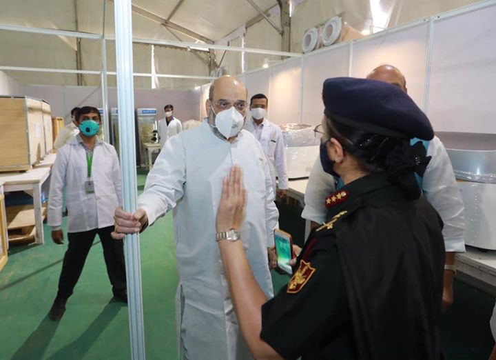 PM Shri Narendra Modi ji is fully committed to helping the people of Delhi in these challenging times and this Covid hospital, yet again, highlights the resolve.  I thank DRDO, Tatas and our Armed Forces Medical personnel who have risen to the occasion and helped tackle the emergency.